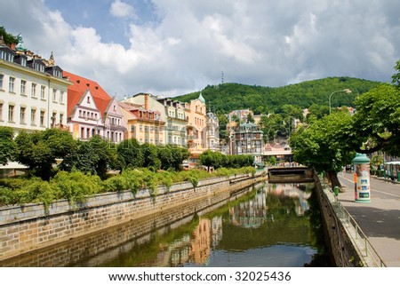 water canal in Karlovy Vary. Czech Republic