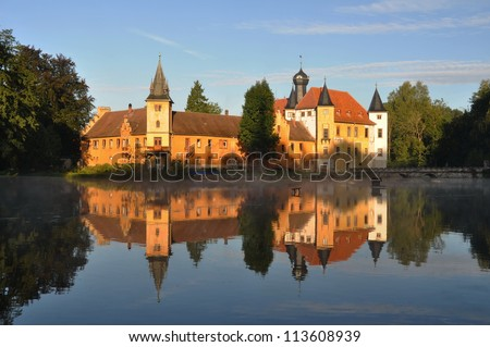 water Castle Wolfersdorf Trockenborn germany