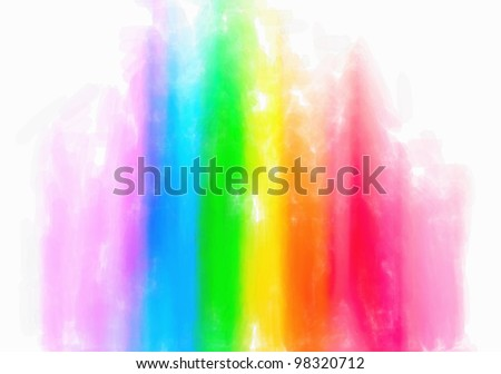 Water color color abstract equalizer on  wet background