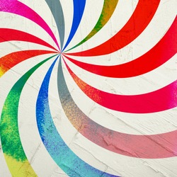 Water Colorful spiral in wall background