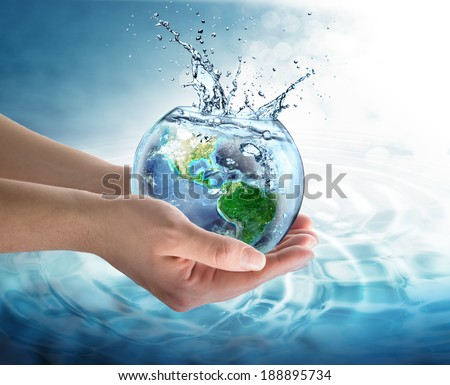 water conservation in the our planet - Usa - Elements of this image furnished by NASA