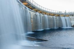 Water dam landscape in Norway
