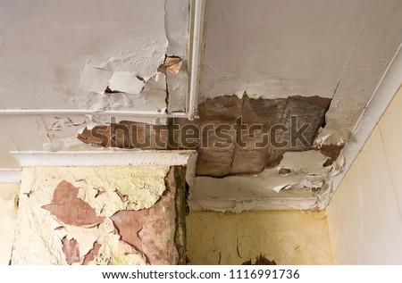 Water damage building interior