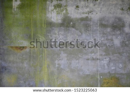 Water damage on cement wall texture.