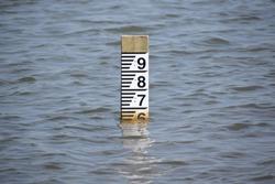 Water depth sign