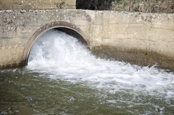 Water Drain,Drain flow into the canal for prevent flood events in the city.