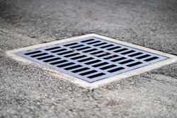 Water Drain on Cement Road
