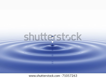 Water drop and white background