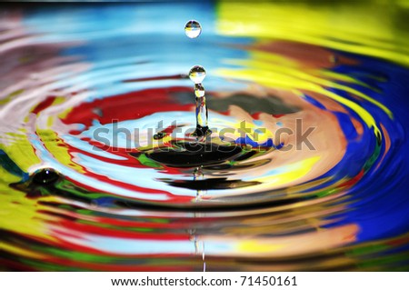 Water drop, colorful