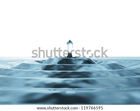 Water Drop Falling Abstract Background with place for your text