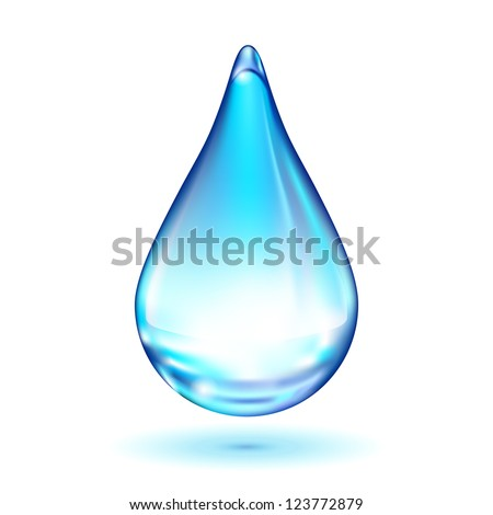 Water drop isolated on white background - stock photo