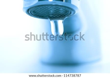 Water drop macro - stock photo