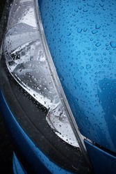 Water drop on car