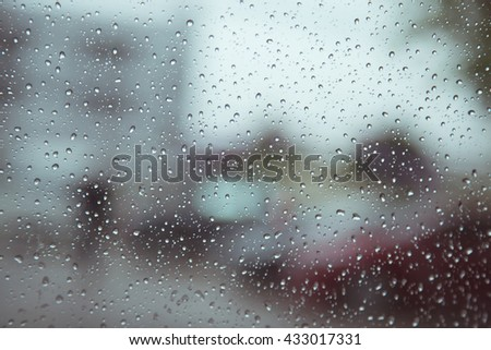 Water drop on glass background #433017331