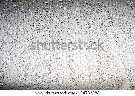 water drop on metal #134782886