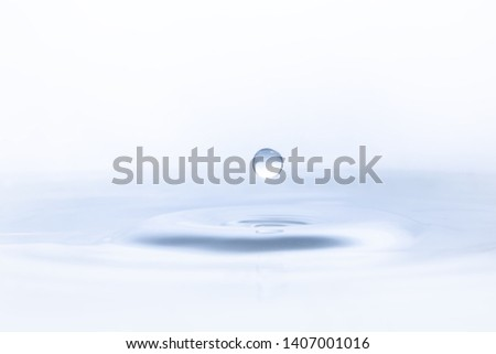 Water drop on water background #1407001016