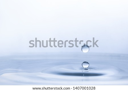 Water drop on water background #1407001028