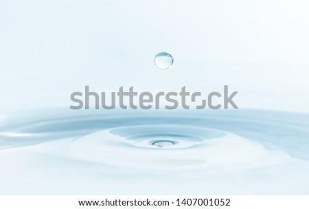 Water drop on water background #1407001052