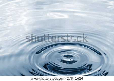 rainy day wallpaper. stock photo : water drop splashing in fresh clear water on a rainy day