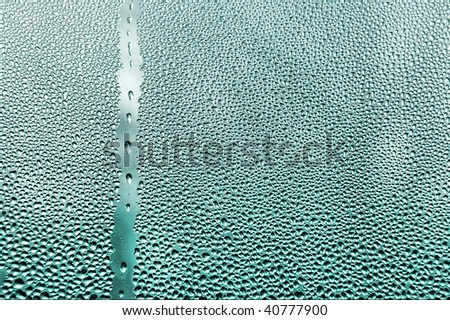 water dropes on window close up