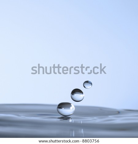 water droplets frozen in time