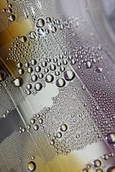 Water droplets macro from a plastic bottle modern background high quality print fifty megapixels
