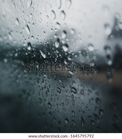Water droplets on a glass window