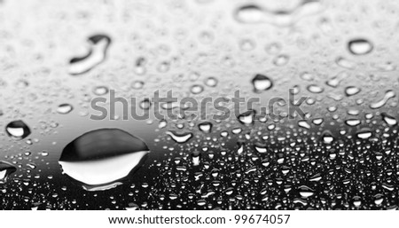 Water Droplets on a metal Surface
