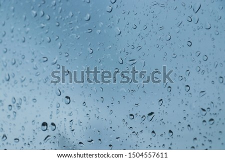 Water droplets on the glass