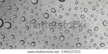 Water droplets on the glass after rain, background, water droplets