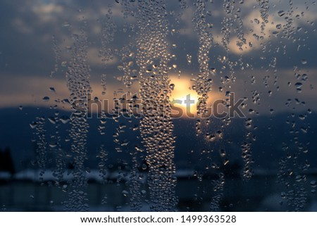 Water droplets on the window