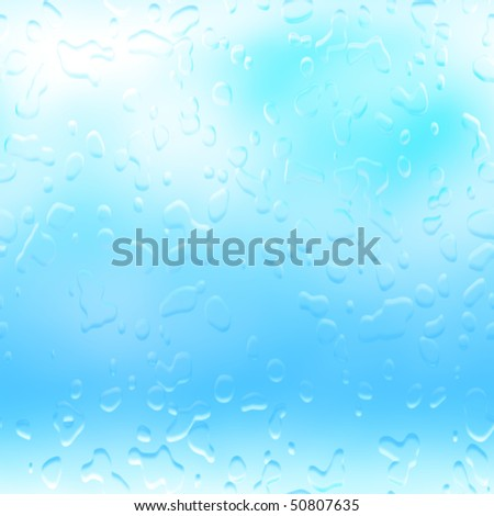 Water droplets raindrops rain drops background abstract illustration