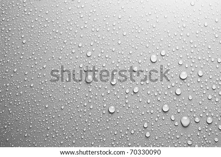 Stock Photo water drops an white background