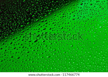 Water drops background, black and green