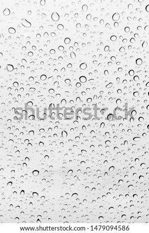Water drops background , rain drops on glass #1479094586