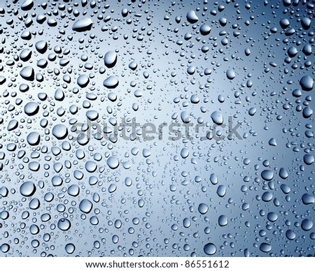 Water drops background with copy space