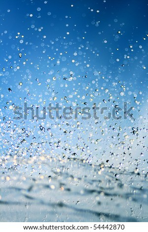 Water drops in the air