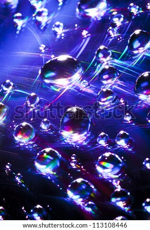 Water drops on a CD