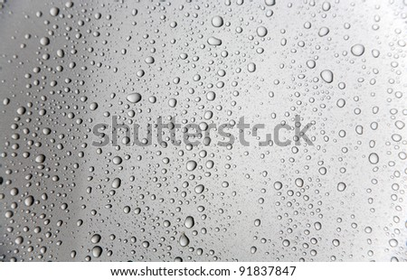 water drops on car surface