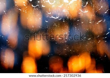 Water drops on dark wallpaper
