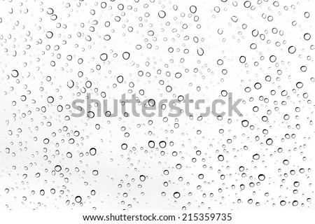 Photo of  Water drops on glass.