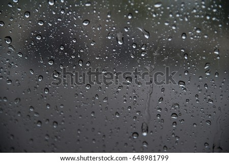Water drops on glass #648981799
