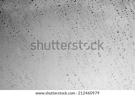 water drops on glass after rain background #212460979