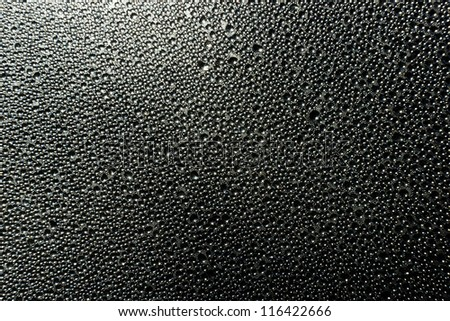 Water drops on glass background