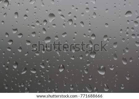 Water drops on gray background closeup #771688666