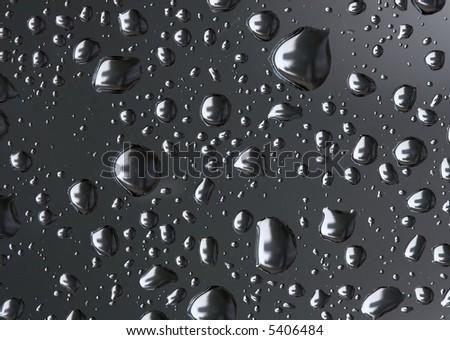 water drops on grey
