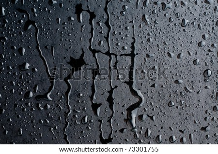 Stock Photo Water drops on metal surface