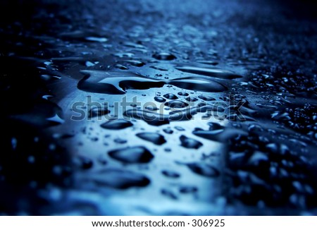 water drops on my table