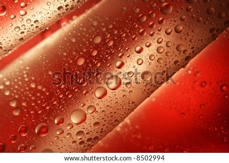 water-drops on red background