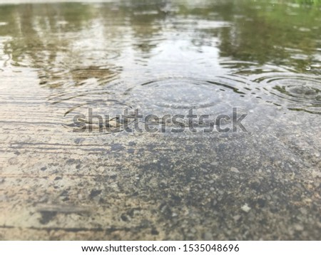 Water drops on the surface of the cement surface #1535048696
